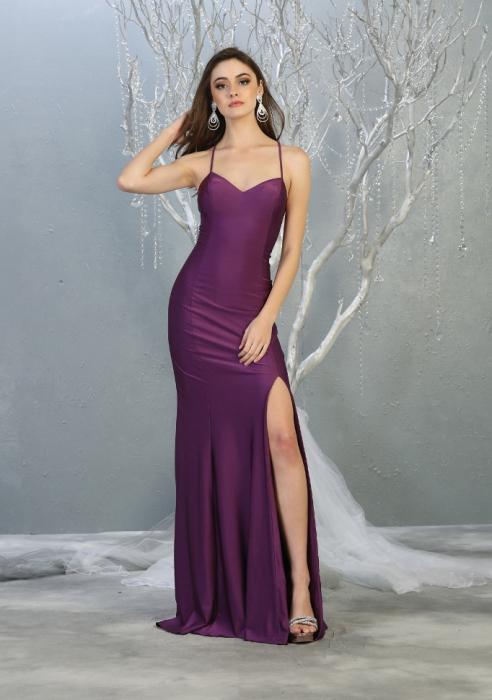 Rochie France Mode M1820 violet lunga de seara mulata [0]