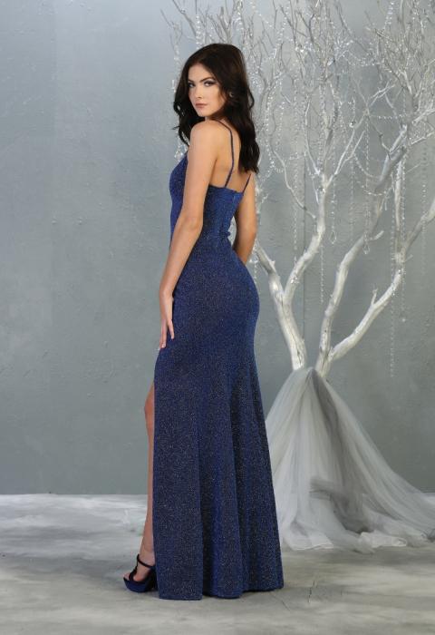 Rochie France Mode M1822 albastra lunga de seara mulata [2]