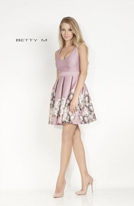 Rochie Betty M Happy lyla cu flori scurta de vara baby doll 1