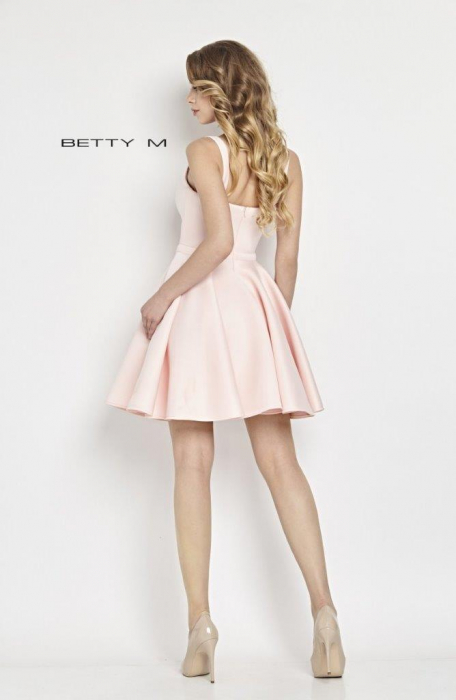 Rochie Betty M Hugs roz scurta de cocktail baby doll 3