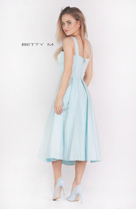 Rochie Betty M Ivent bleu midi de cocktail baby doll 4