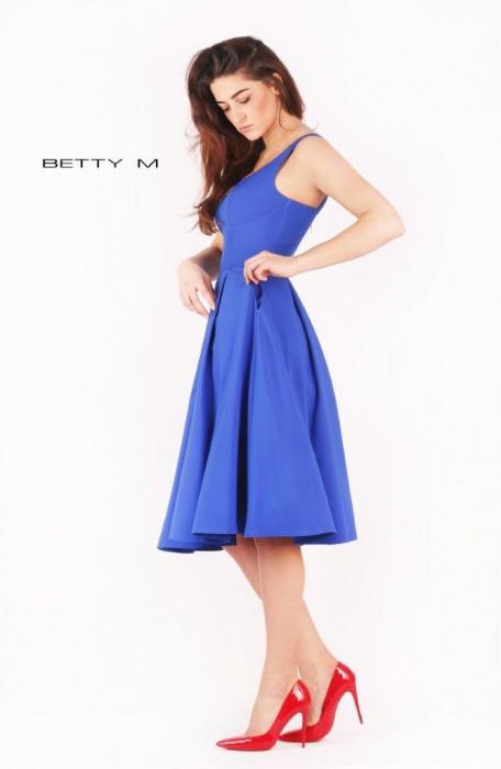 Rochie Betty M Ivent albastra midi de cocktail baby doll [2]