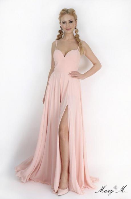 Rochie Betty M Magnolia roz lunga de seara in clos 0