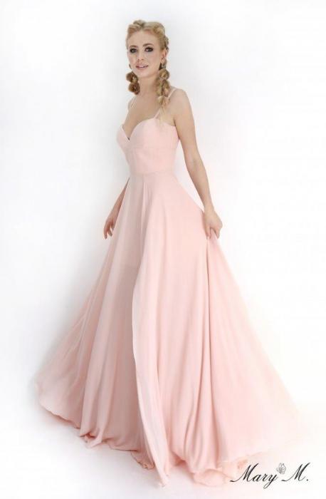 Rochie Betty M Magnolia roz lunga de seara in clos 1