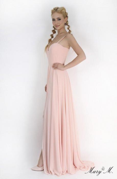 Rochie Betty M Magnolia roz lunga de seara in clos 2