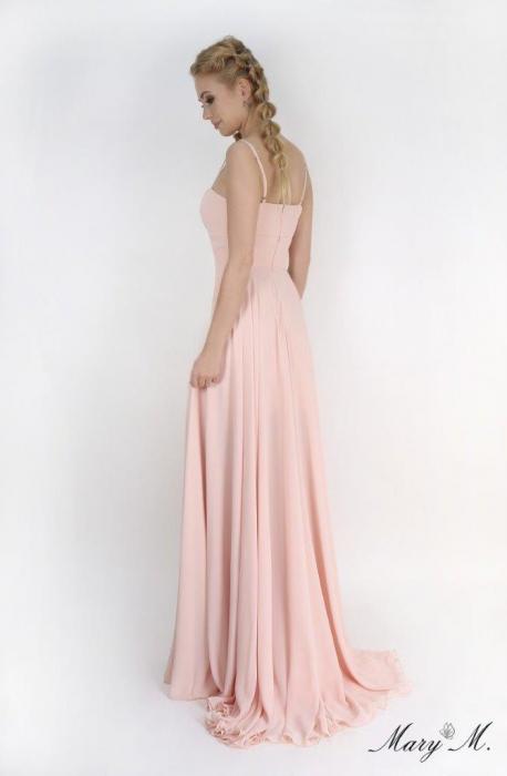 Rochie Betty M Magnolia roz lunga de seara in clos 3