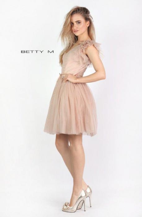 Rochie Betty M Misty bej scurta de cocktail baby doll 4