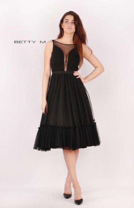 Rochie Betty M Tango neagra maxi de seara baby doll 1