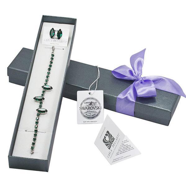 Set cadou cristale Swarovski Amina Emerald 0