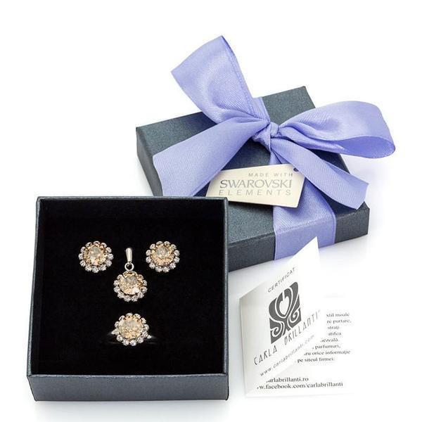 Set cadou cristale Swarovski Celine Golden Shadow [0]