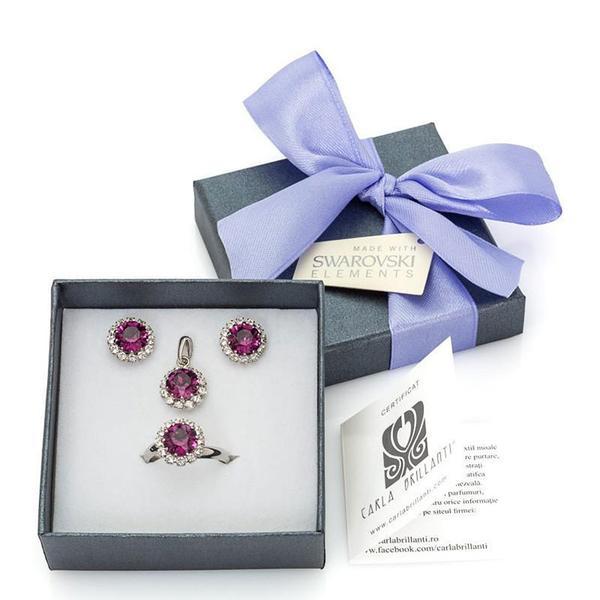 Set cadou cristale Swarovski Chiara Amethyst 0