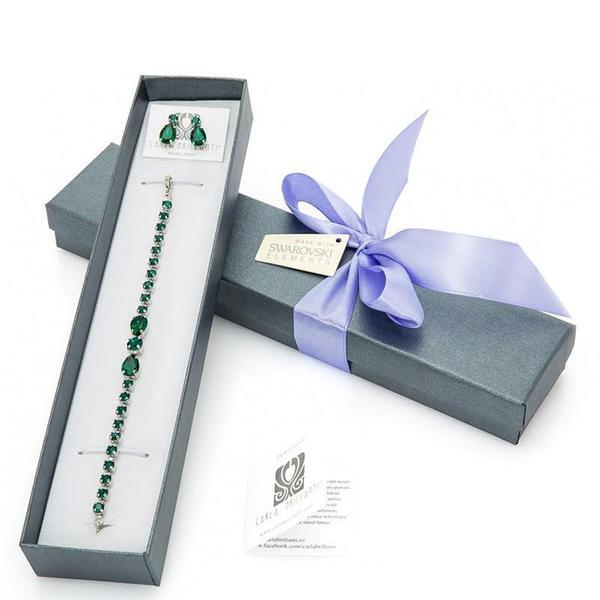 Set cadou cristale Swarovski Emerald 0