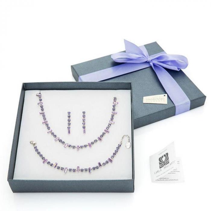 Set cadou cristale Swarovski Iris Violet &Tanzanite 0