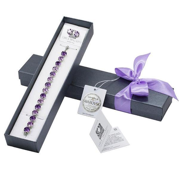 Set cadou cristale Swarovski Jeny Violet &Tanzanite 0