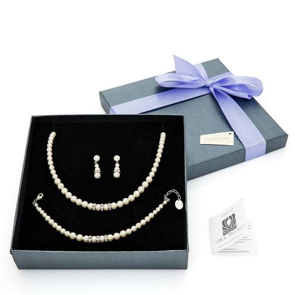 Set cadou perle Swarovski Princess Crystal & Pearl 0