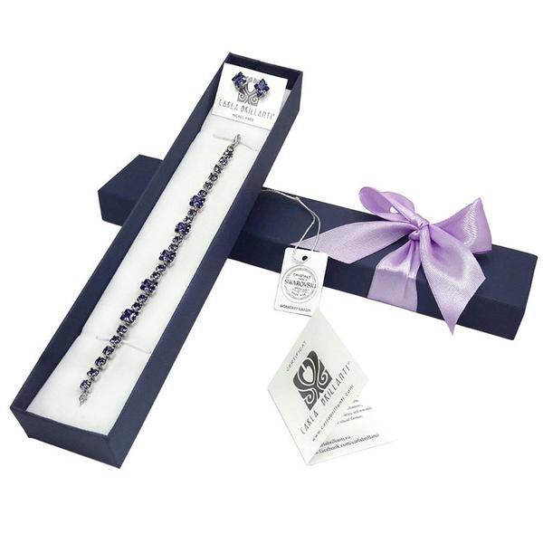Set cadou cristale Swarovski Tina Tanzanite 0