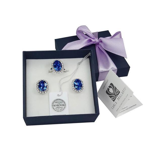 Set cadou cristale Swarovski Vivian Saphire 0