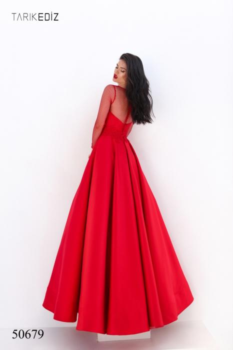Rochie Tarik Ediz 50679 rosie lunga de seara princess din satin [3]