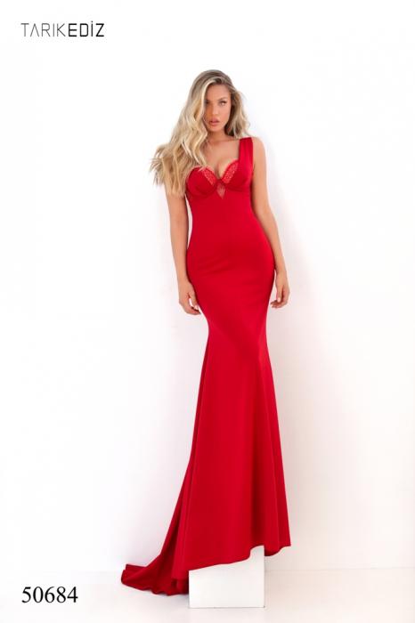 Rochie Tarik Ediz 50684 rosie lunga de seara sirena din milly [2]