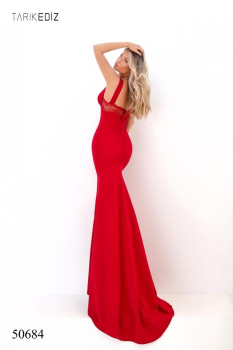 Rochie Tarik Ediz 50684 rosie lunga de seara sirena din milly [4]