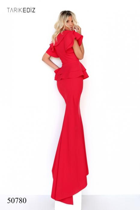 Rochie Tarik Ediz 50780 rosie lunga de seara sirena din corset 2