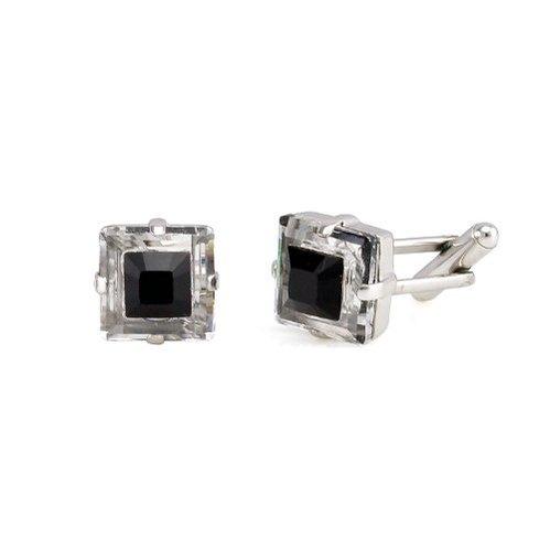 Butoni cristale Swarovski 4439 Black 0