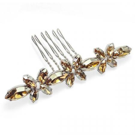Accesoriu par cristale Swarovski Halima Golden0