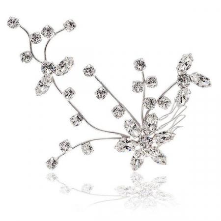 Accesoriu par mireasa cristale Swarovski Cherry Branch Crystal0