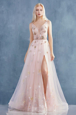 Rochie AndreaLeo Couture A0827 roz lunga de seara clos din tulle [0]