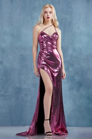 Rochie AndreaLeo Couture A0921 fuchsia lunga de seara mulata din lame0