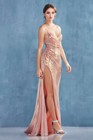 Rochie AndreaLeo Couture A0921 aurie lunga de seara mulata din lame [0]
