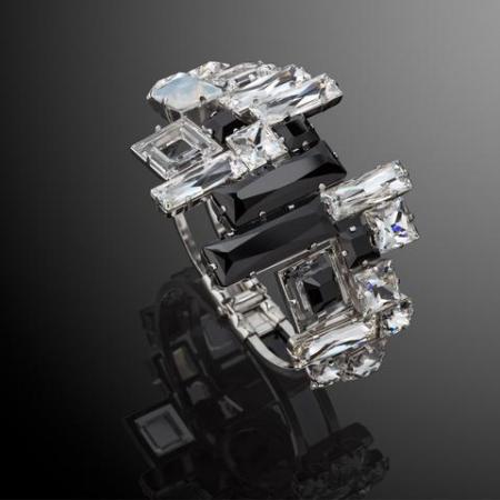 Bratara cristale Swarovski 2142 Black & White [1]