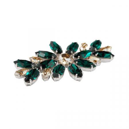 Brosa cristale Swarovski 5042 Emerald [1]