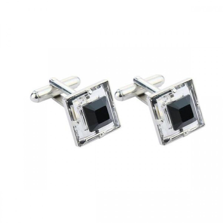 Butoni cristale Swarovski Black & White 4 [0]