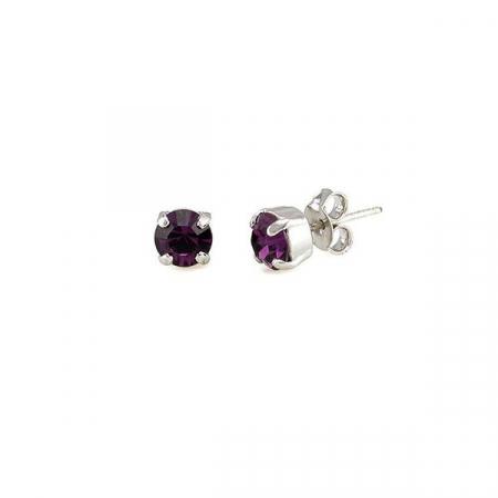 Cercei cristale Swarovski 3014 Amethyst0