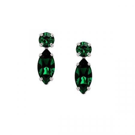 Cercei cristale Swarovski 3038 Emerald0