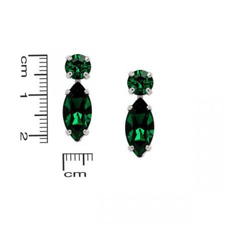 Cercei cristale Swarovski 3038 Emerald2