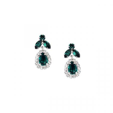Cercei cristale Swarovski Ainara Emerald0