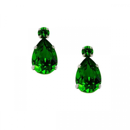 Cercei cristale Swarovski Alma 3 Emerald0