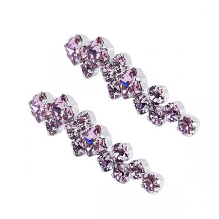 Cercei cristale Swarovski Annie Light Amethyst2