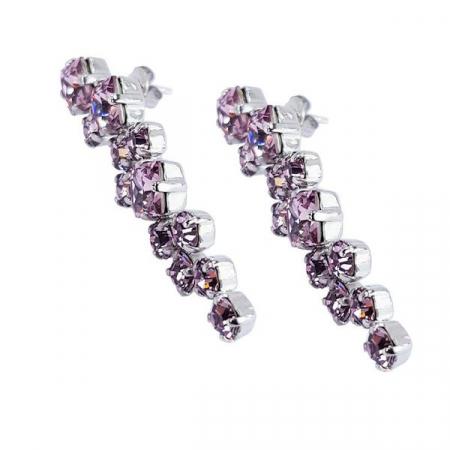 Cercei cristale Swarovski Annie Light Amethyst3