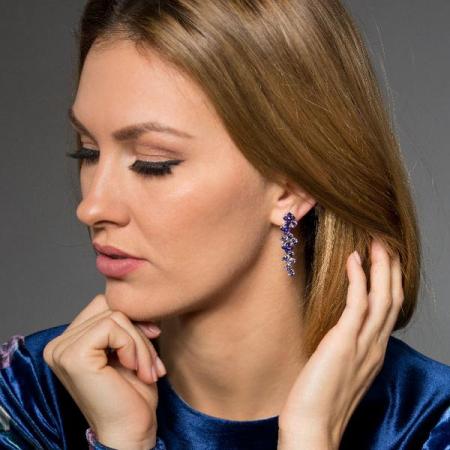 Cercei cristale Swarovski Annie Violet2