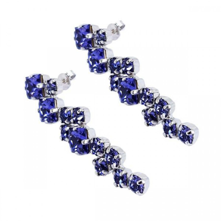 Cercei cristale Swarovski Annie Violet3