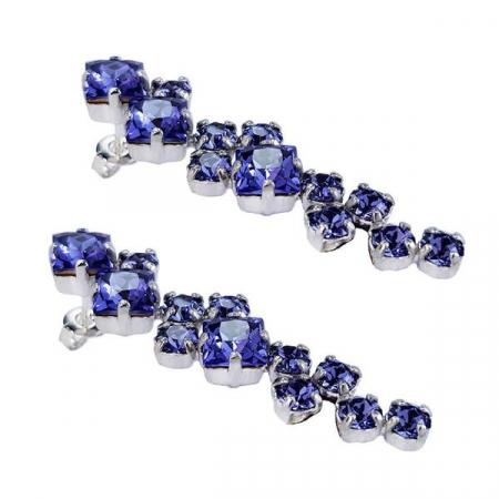 Cercei cristale Swarovski Annie Violet4