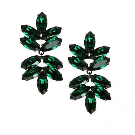 Cercei cristale Swarovski Beatrice Emerald0