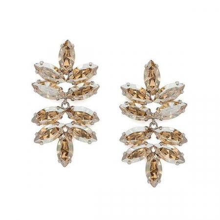 Cercei cristale Swarovski Beatrice Gold0