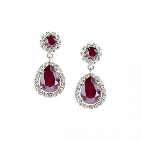 Cercei cristale Swarovski Emily Royal Red0