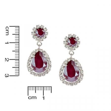 Cercei cristale Swarovski Emily Royal Red2