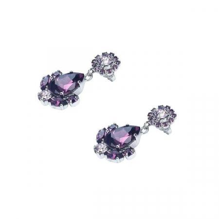 Cercei cristale Swarovski Francesca Amethyst [2]