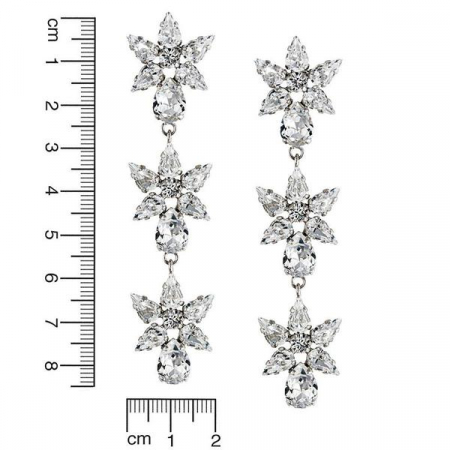 Cercei cristale Swarovski Nathalie Crystal [2]